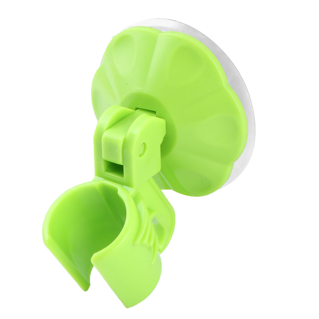 Household Bathroom Plastic Suction Cup Adjustable Shower Head Holder Green