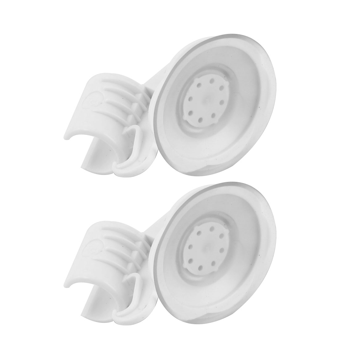 Dormitory Home Plastic Suction Cup Adjustable Shower Head Holder White 2pcs
