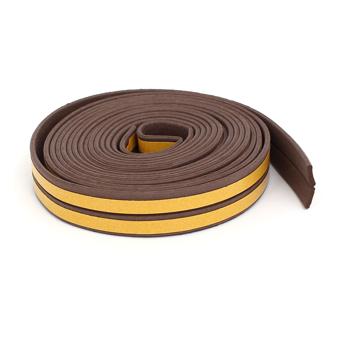 9.8 Feet EPDM Foam Rubber Self Adhesive Weatherstrip Seal Strip Brown 2pcs