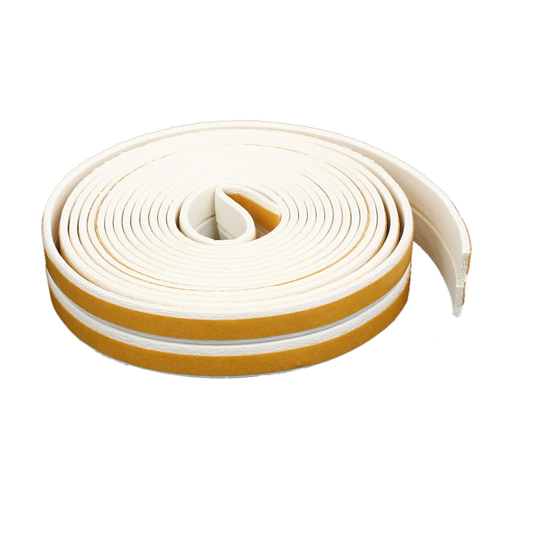 9.8 Feet EPDM Foam Rubber Self Adhesive Weatherstrip Seal Strip White 2pcs