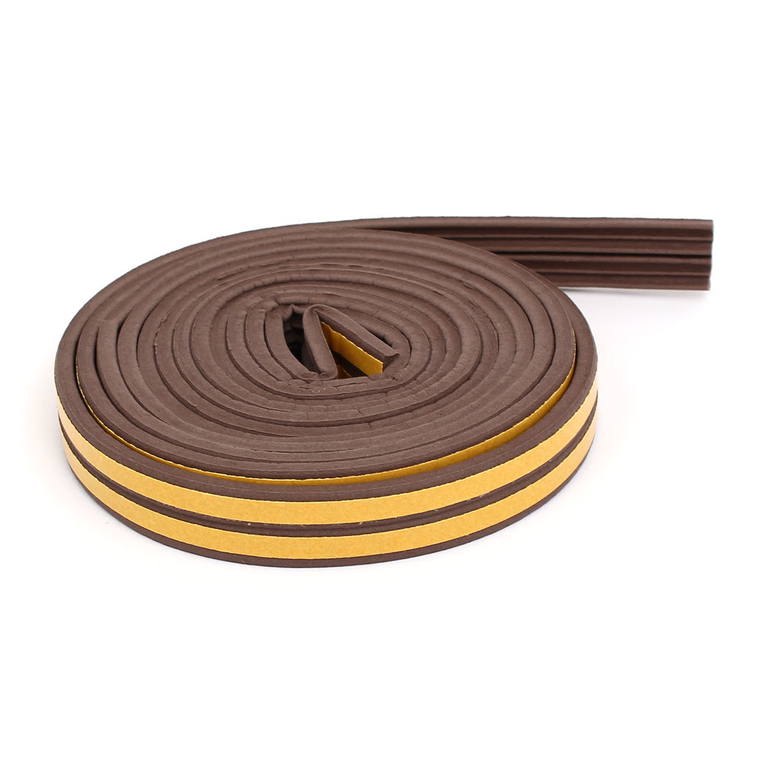 9.8 Feet Long EPDM Foam Rubber E Type Weatherstrip Seal Strip Brown 2pcs