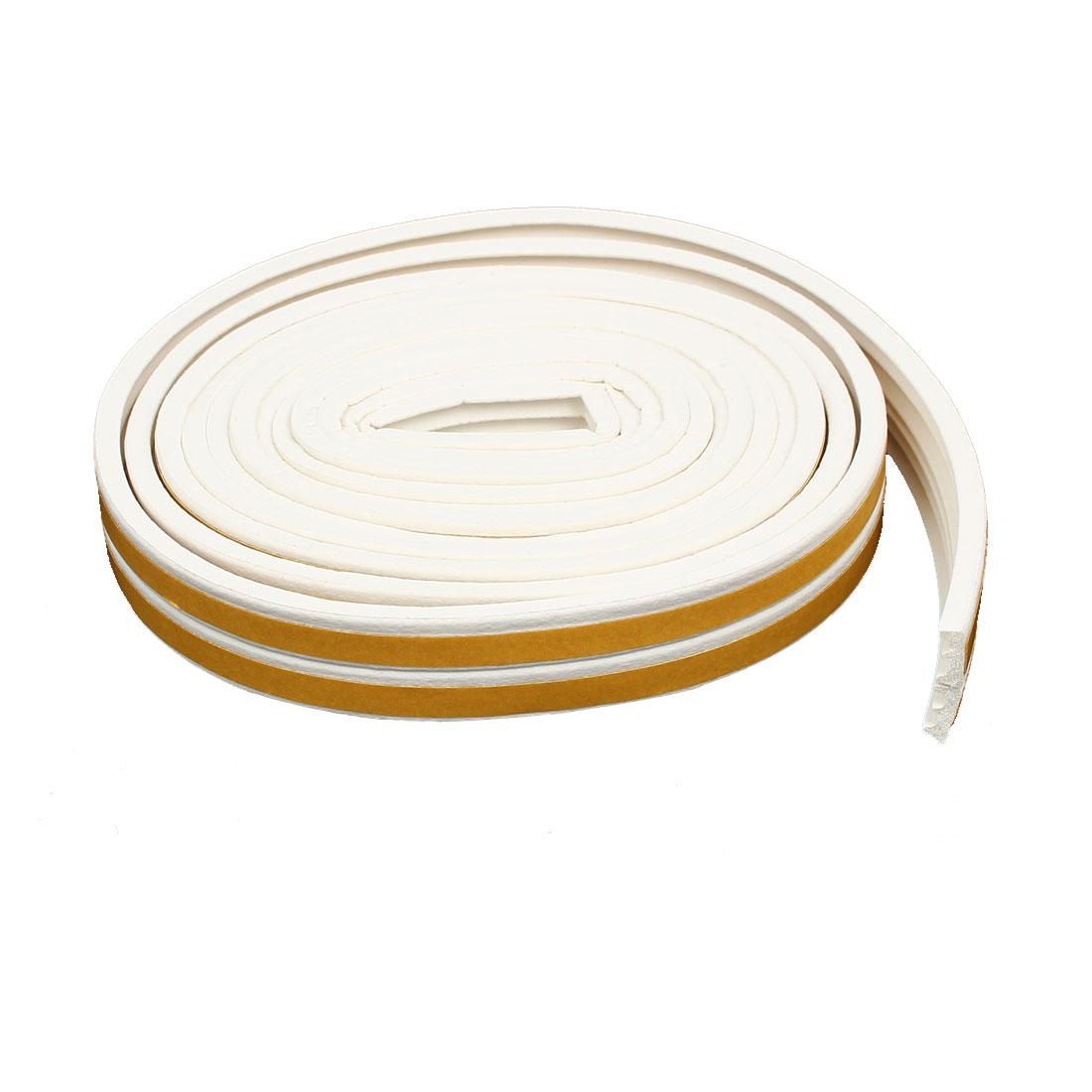 9.8 Feet Long EPDM Foam Rubber E Type Weatherstrip Seal Strip White 2pcs