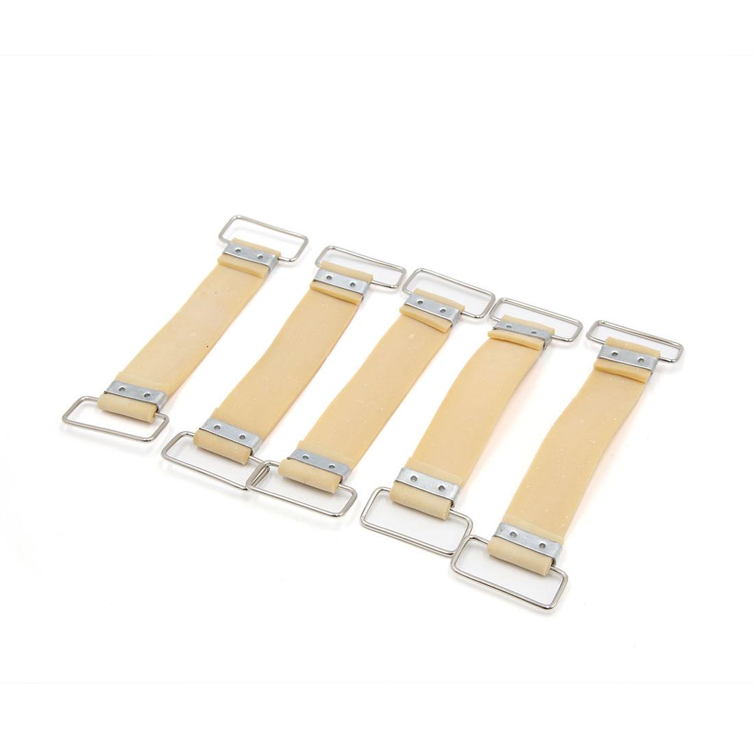 5 Pcs Khaki Bettery Fixed Holder Rubber Strap Band Bandge for Motorcycle