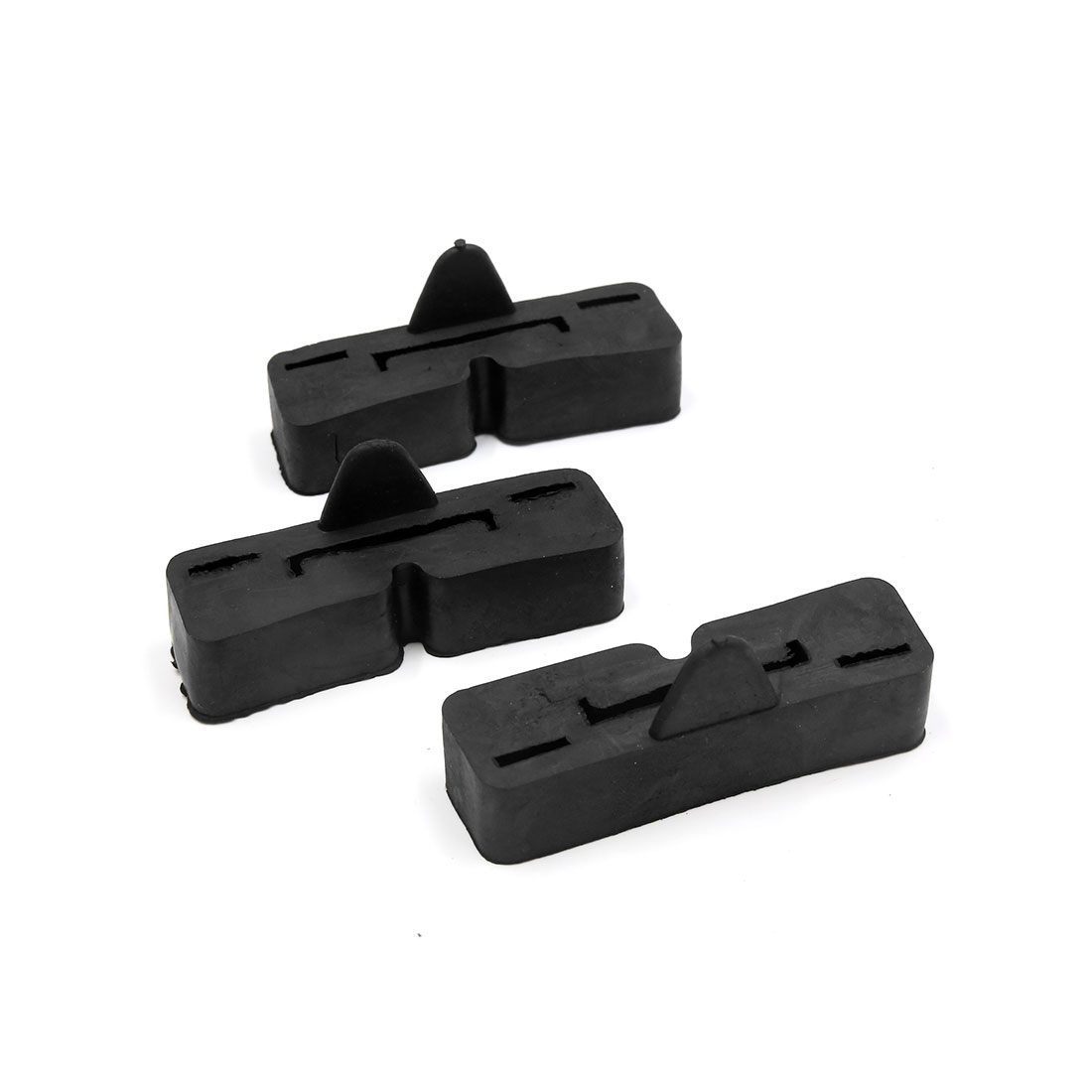 3 Pcs Black Motorcycle Petrol Gas Oil Fuel Tank Mount Rubber Holder for ZJ127