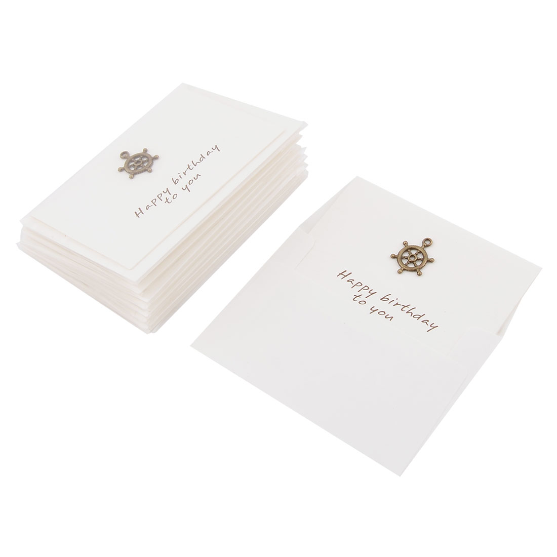 Wedding Birthday Paper Rudder Pattern Invitation Gift Greeting Cards Envelopes 10 Sets