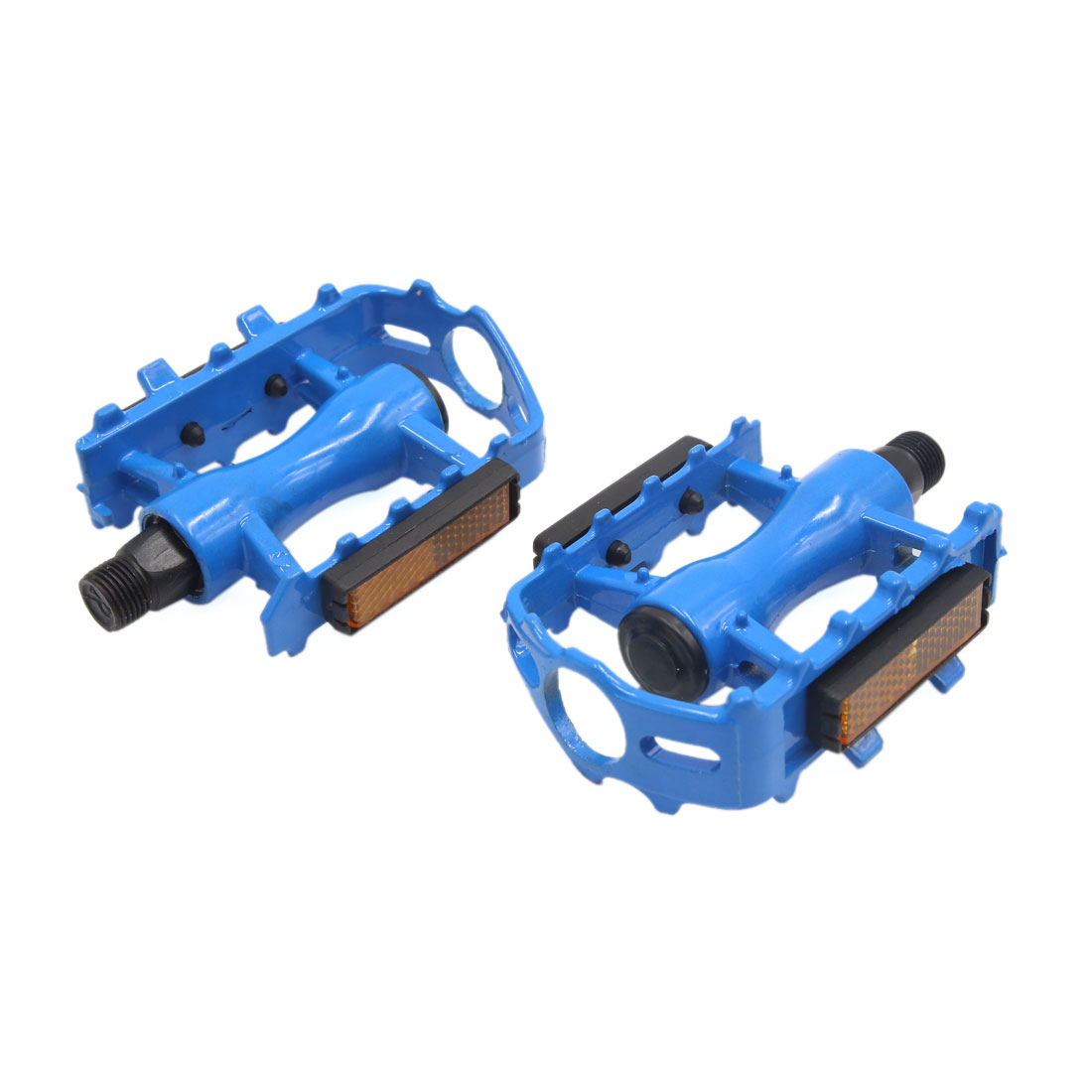2 Pcs Blue Aluminum Alloy Anti Slip Axle Platform Pedals for Bike Bicycle Cycling