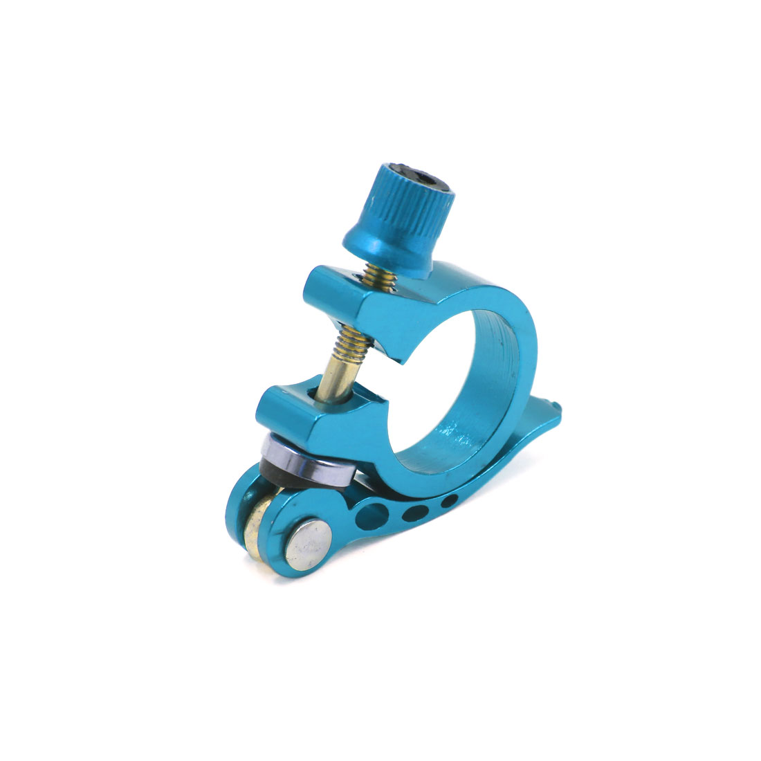 28.6mm Dia Blue Aluminum Alloy Bicycle Bike MTB Quick Release Seat Post Clamp