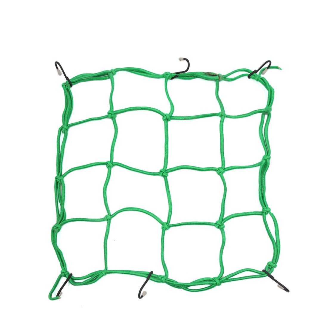 13'' x 13'' Green Elastic Helmet Cargo Luggage Storage Mesh Bungee Net for Bike Bicycle