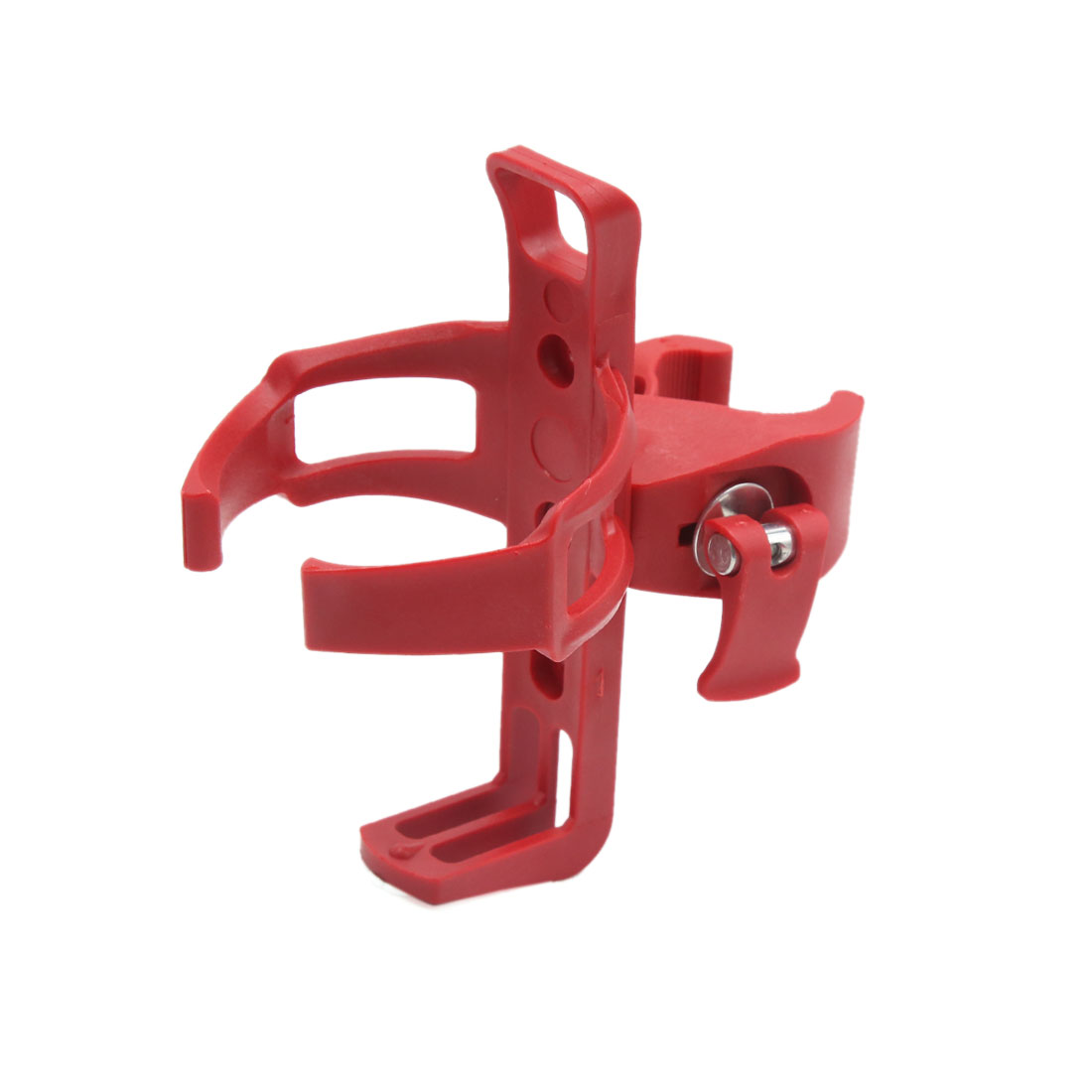Red Plastic Adjustable Water Bottle Cup Rack Cage Holder for Cycling Bicycle Mountain Bike