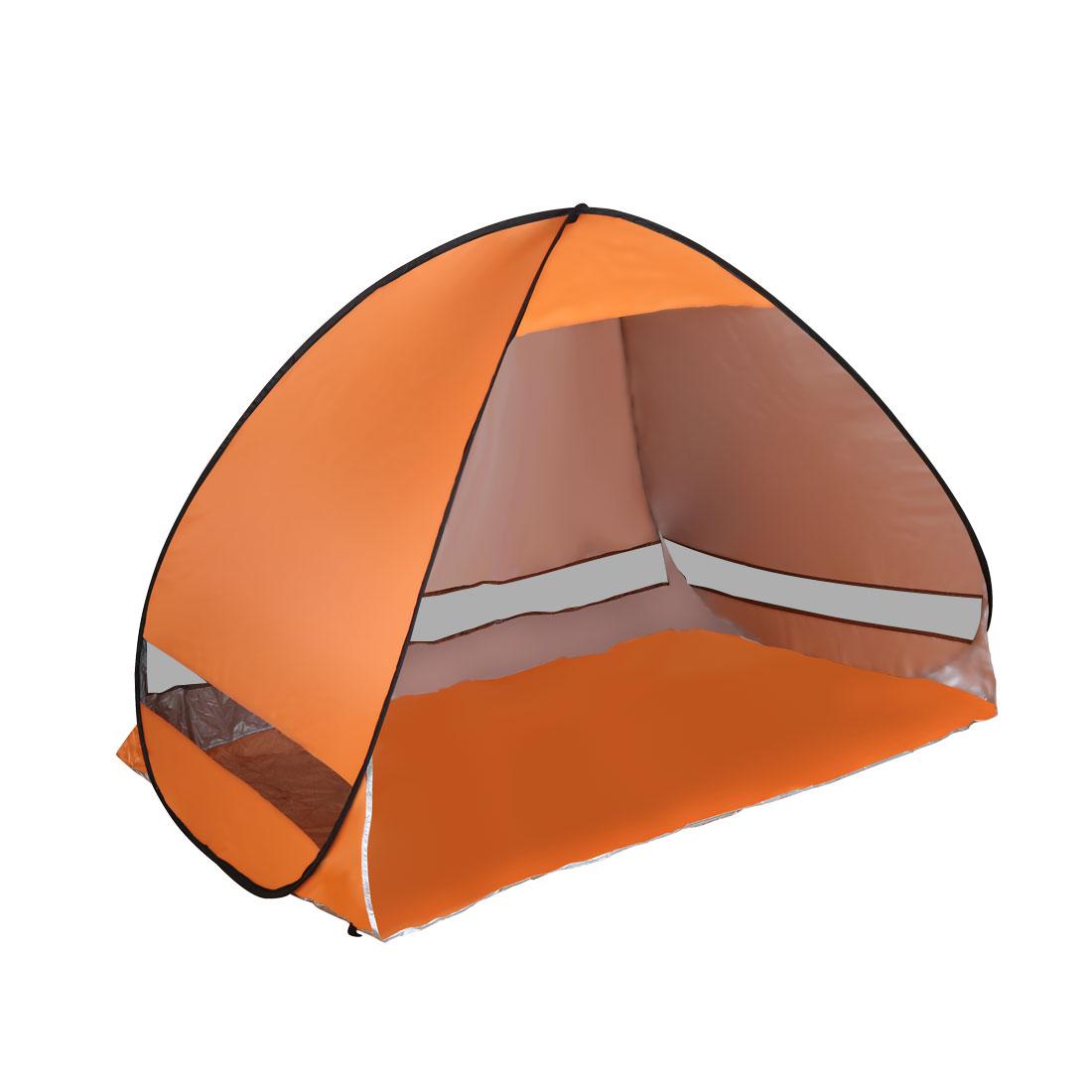 Pop Up Outdoor Beach Tent Folding Sun Shelter Anti UV Instant Portable Orange