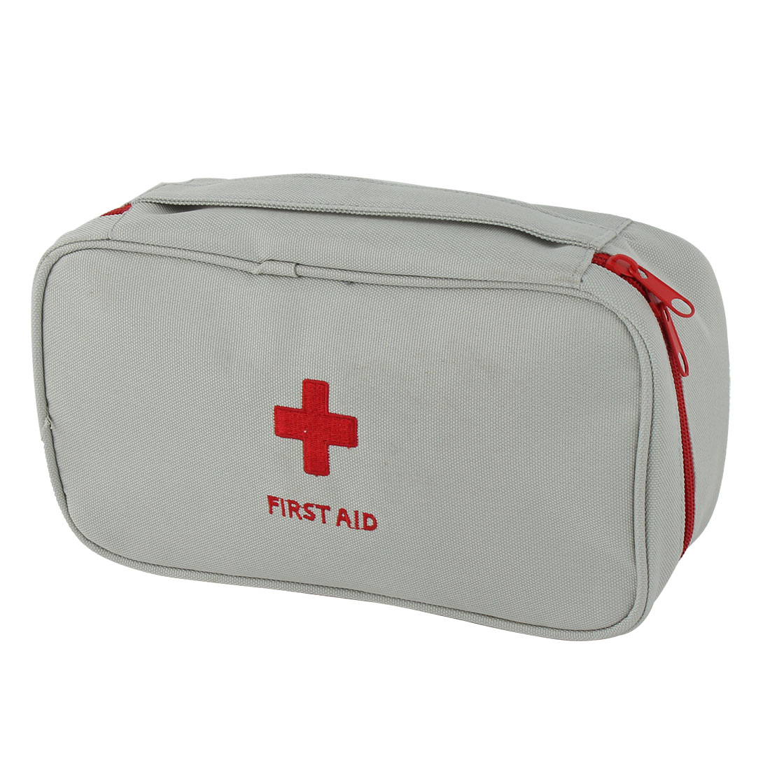 Travel Camp Polyester Rectangle Emergency First Aid Medic Rescue Bag Light Gray