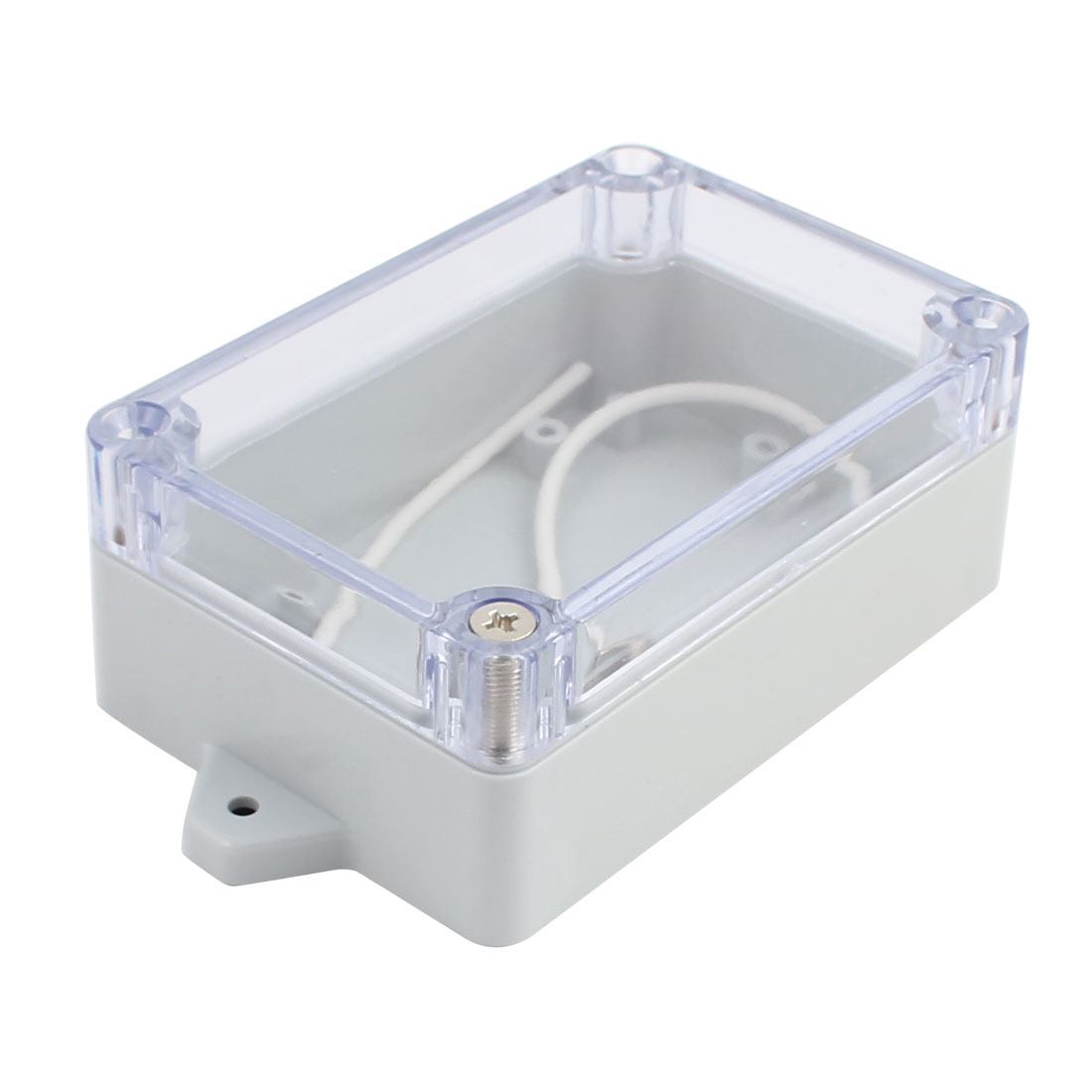 100x68x40mm Screw Mount ABS Junction Box Enclosure w PC Clear Cover