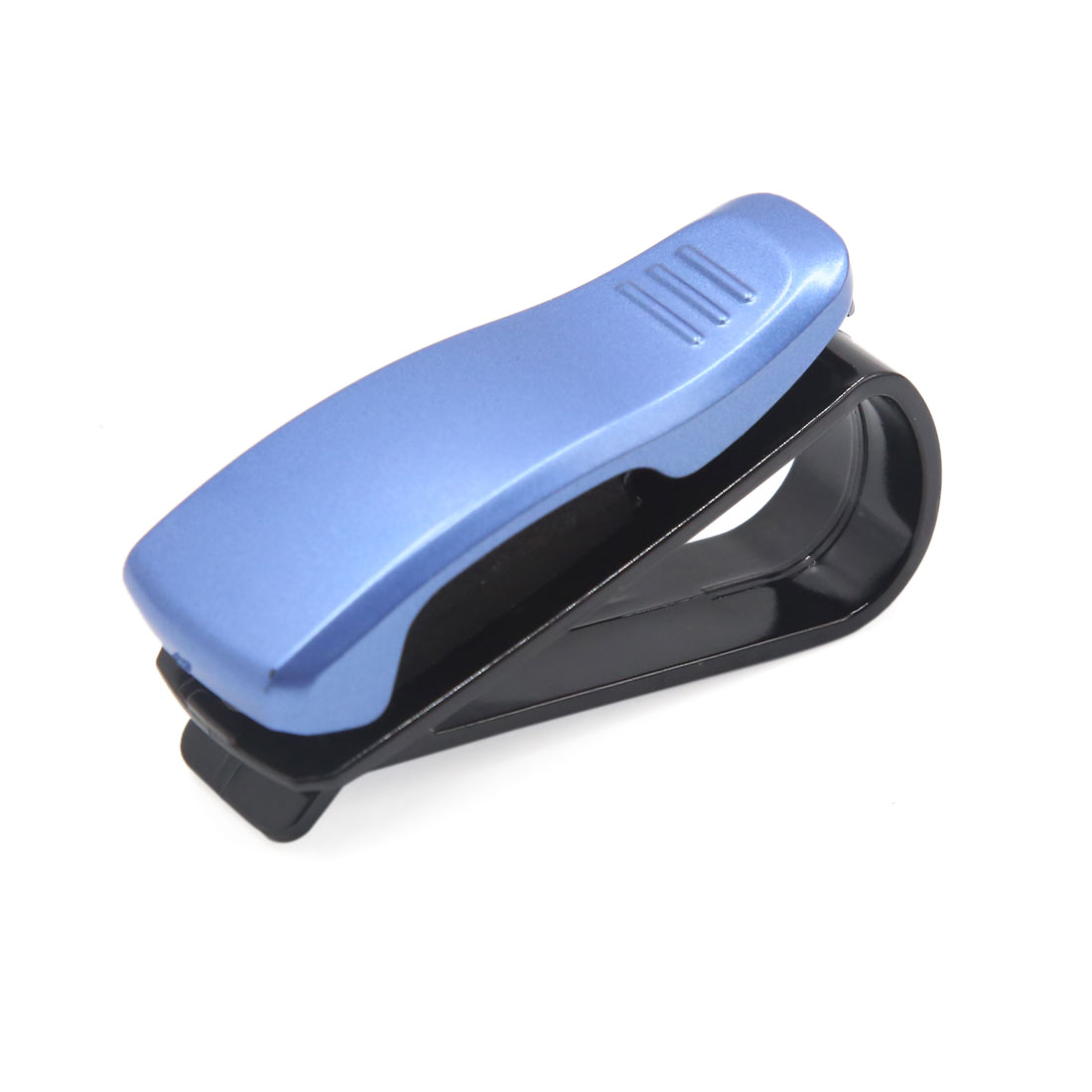 Universal Portable Blue Black Car Auto Sun Visor Sunglasses Card Pen Holder Clip