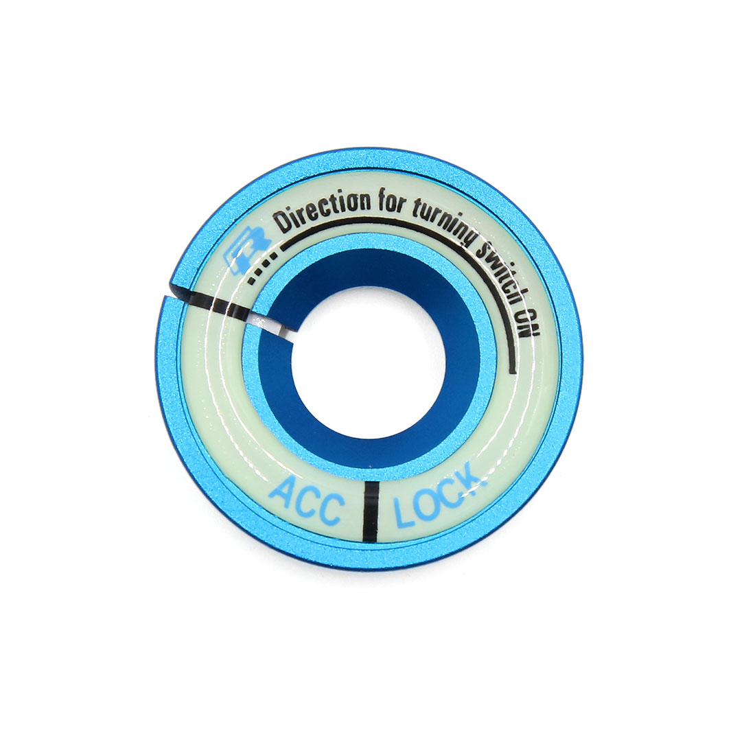 Blue 40mm Outer Diameter Luminous Engine Start Stop Switch Button Decorative Ring