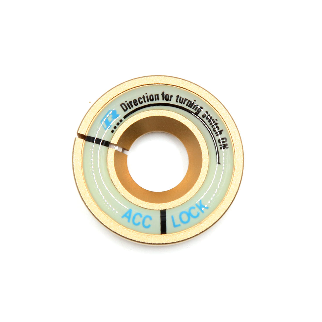 Gold Tone 40mm Outer Diameter Luminous Engine Start Stop Switch Button Decorative Ring