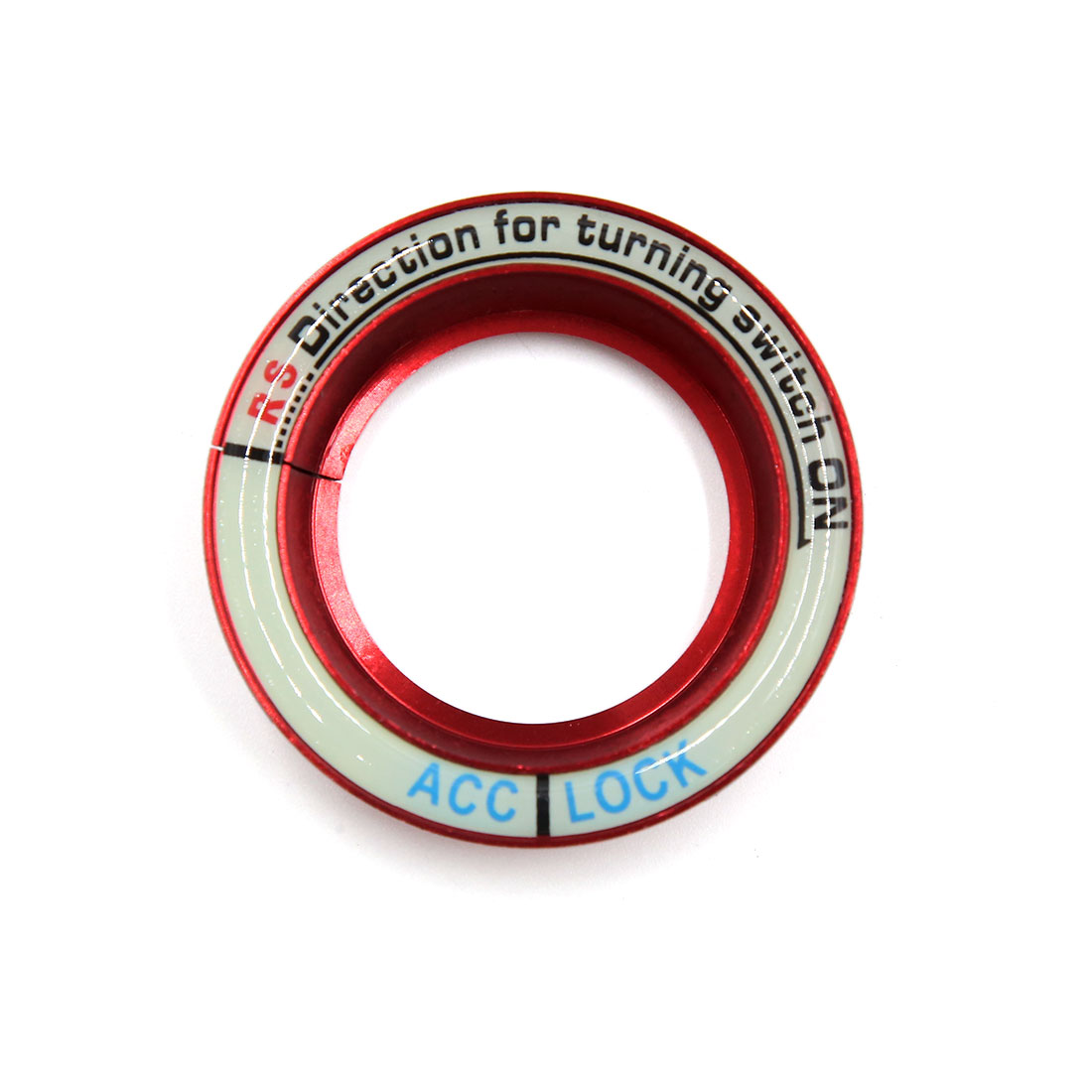 Red 52mm Dia Luminous Car Ignition Engine Start Stop Switch Button Decorative Ring for Skoda