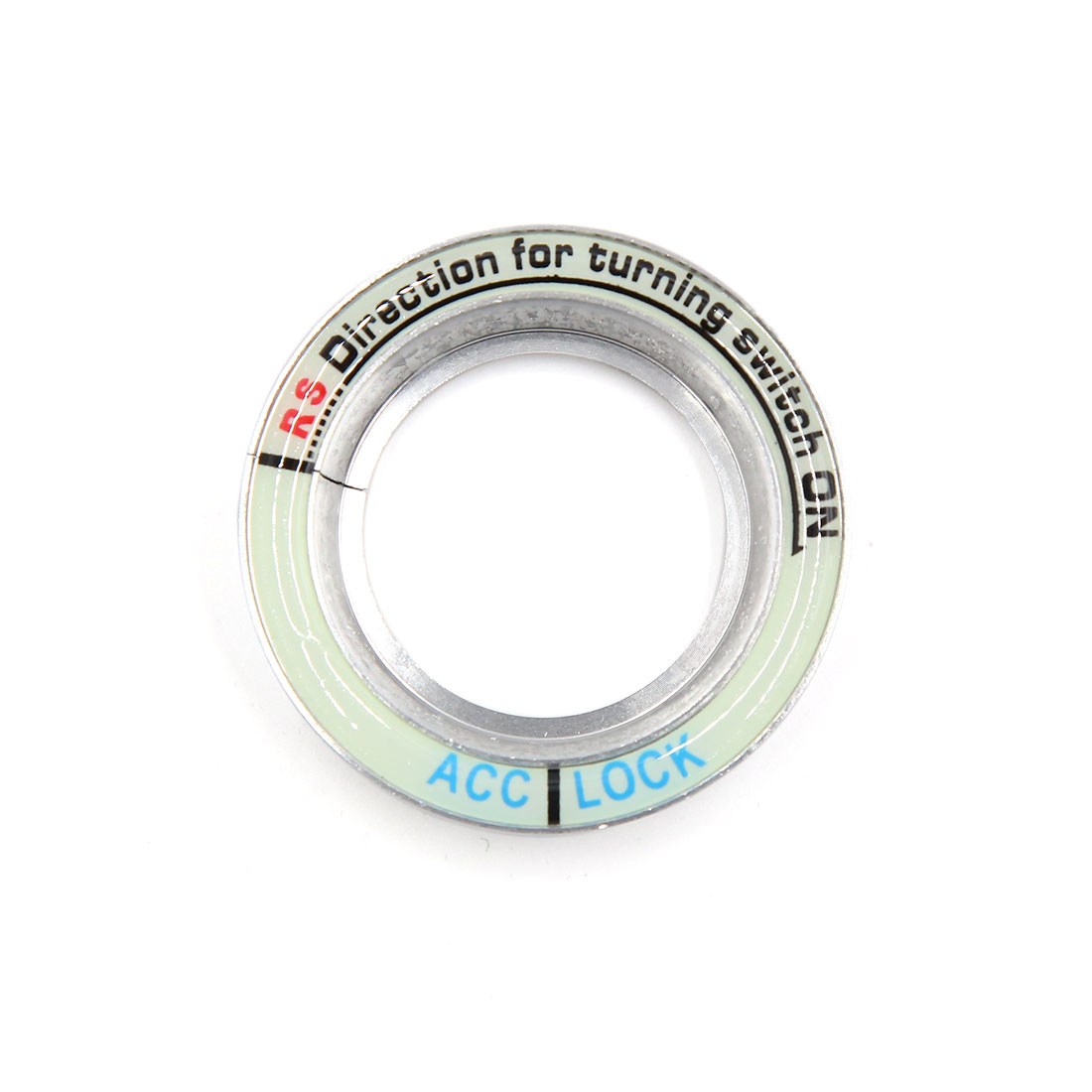 Silver Tone 52mm Dia Luminous Car Ignition Engine Start Stop Switch Button Decorative Ring for Skoda