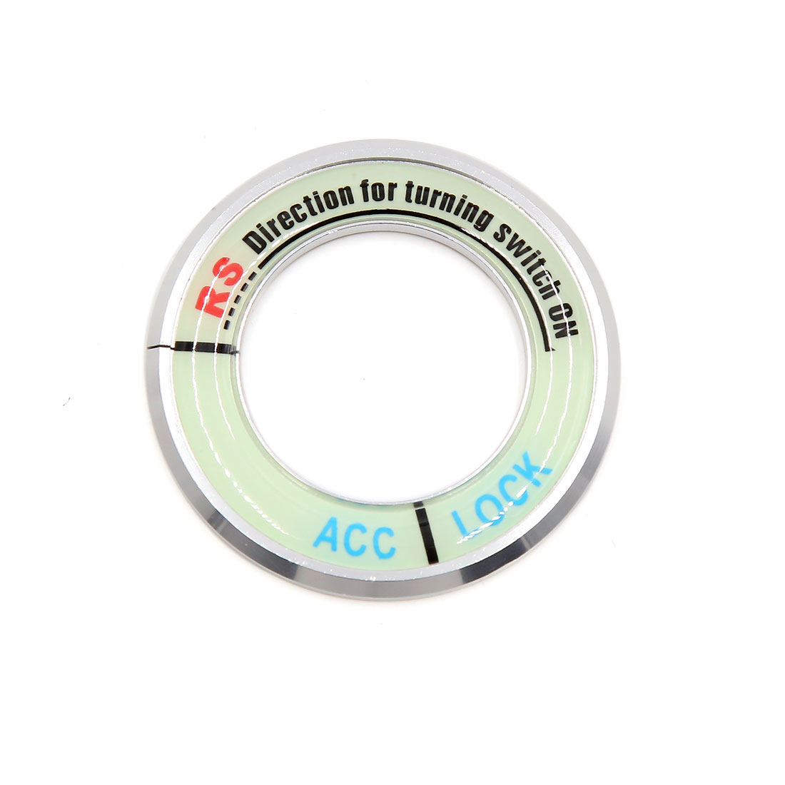 Silver Tone 53mm Dia Luminous Car Ignition Engine Start Stop Switch Button Decorative Ring for 15 Highlander