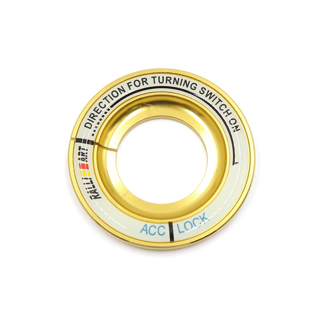 Gold Tone 52mm Dia Luminous Car Ignition Engine Start Stop Switch Button Decorative Ring for Kia KX5