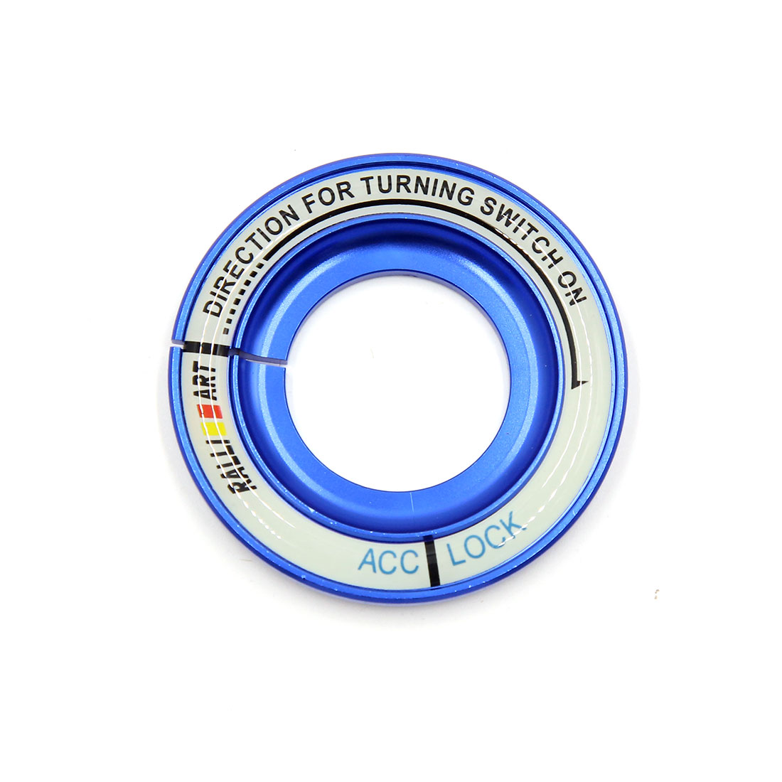 Blue 52mm Dia Luminous Car Ignition Engine Start Stop Switch Button Decorative Ring for Kia KX5