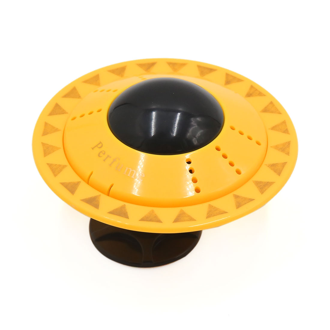 Yellow UFO Shaped Design Car Perfume Block Fragrance Diffuser Air Freshener