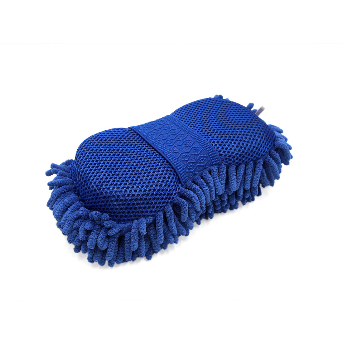25 x 13 x 6.5cm Blue Microfiber Chenille Washing Cleaning Sponge for Auto Car