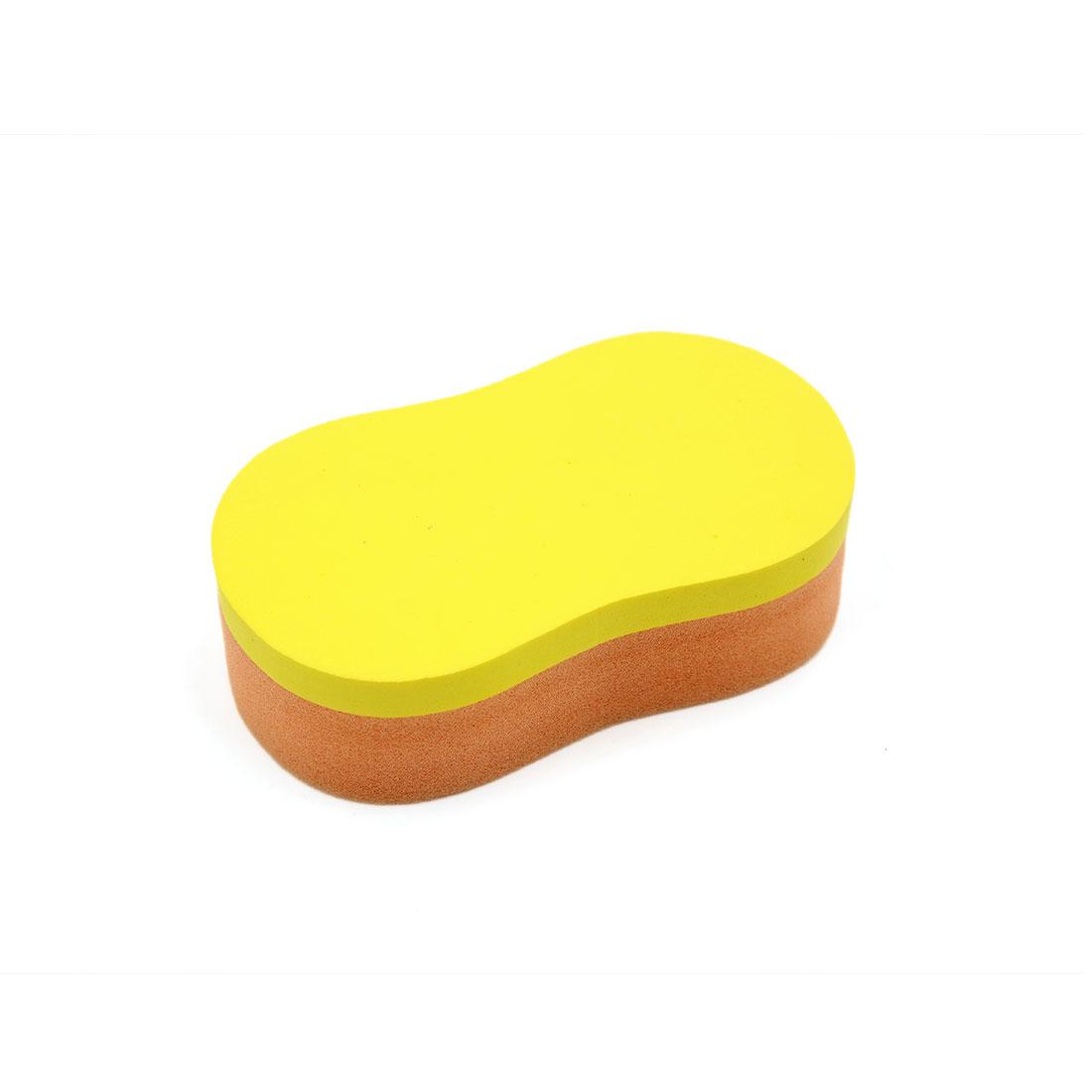 Yellow Foam Orange Sponge 8-Shaped Car Vehicle Waxing Buffing Tool Polishing Pad