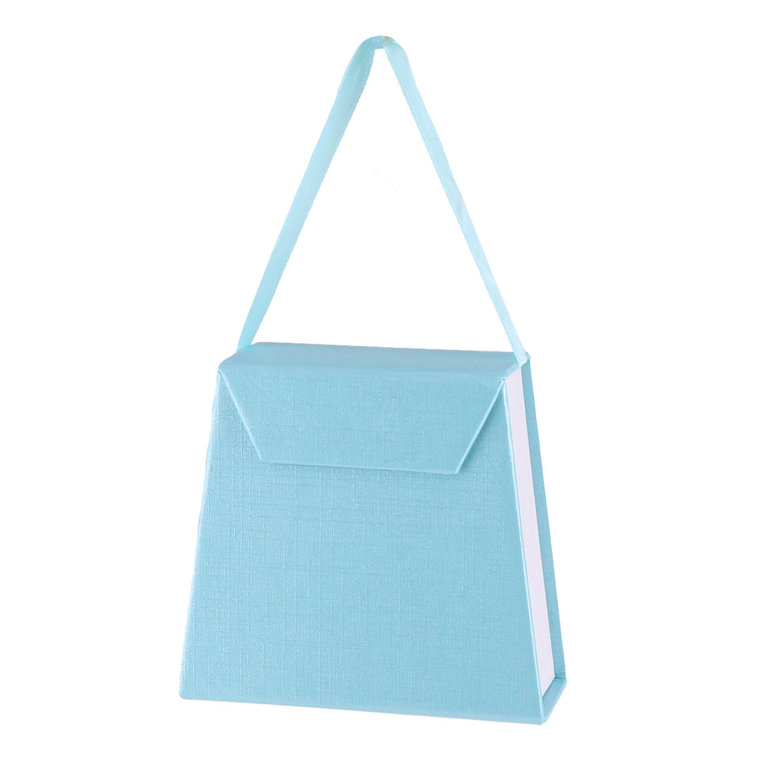 Lady Outdoor Handbag Design Pengdant Jewelry Holder Storage Gift Box Case Cyan