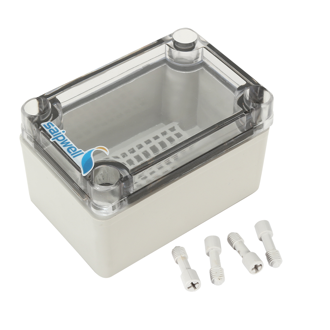 "2.6""x3.7""x2.2""(65mmx95mmx55mm) ABS Junction Box Universal Project Enclosure w PC Transparent Cover"