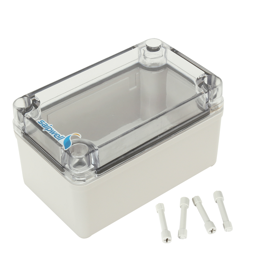 """3.2""""x5.1""""x2.8""""(80mmx130mmx70mm) ABS Junction Box Universal Project Enclosure w PC Transparent Cover"""