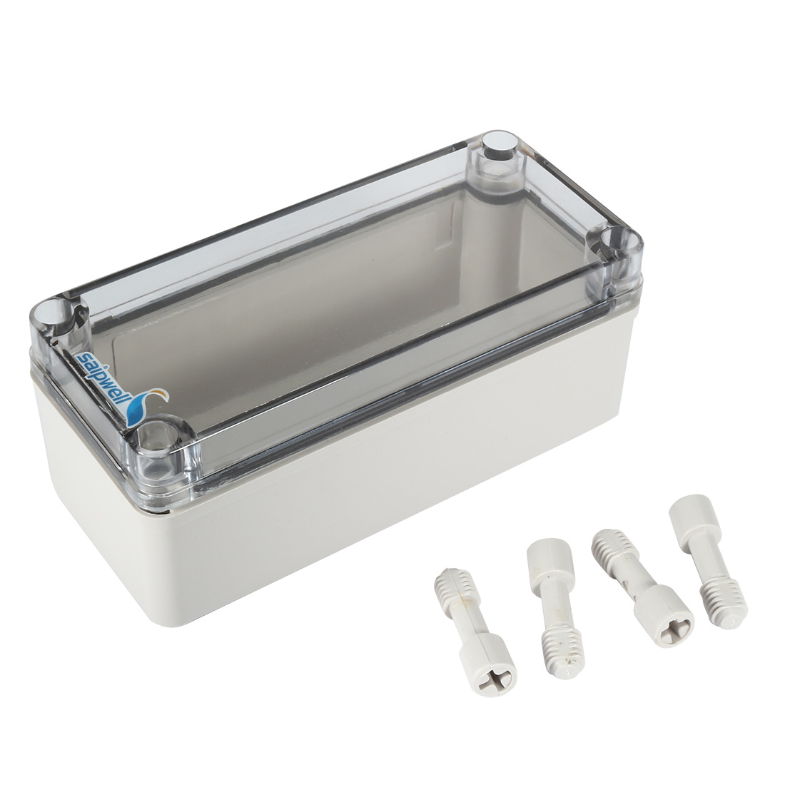"3.2""x7.1""x2.8""(80mmx180mmx70mm) ABS Junction Box Universal Project Enclosure w PC Transparent Cover"