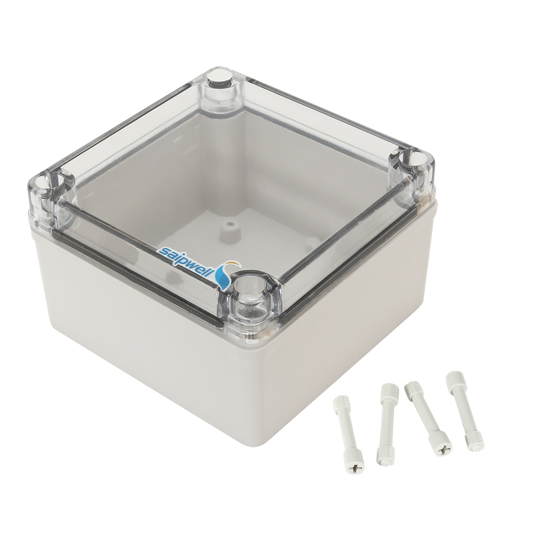 "4.92""x4.92""x2.94""(125mmx125mmx75mm) ABS Junction Box Universal Project Enclosure w PC Transparent Cover"
