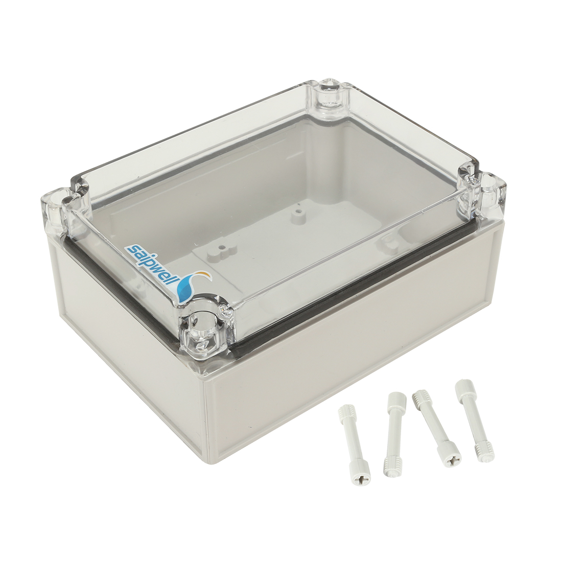 "4.9""x6.9""x2.94""(125mmx175mmx75mm) ABS Junction Box Universal Project Enclosure w PC Transparent Cover"