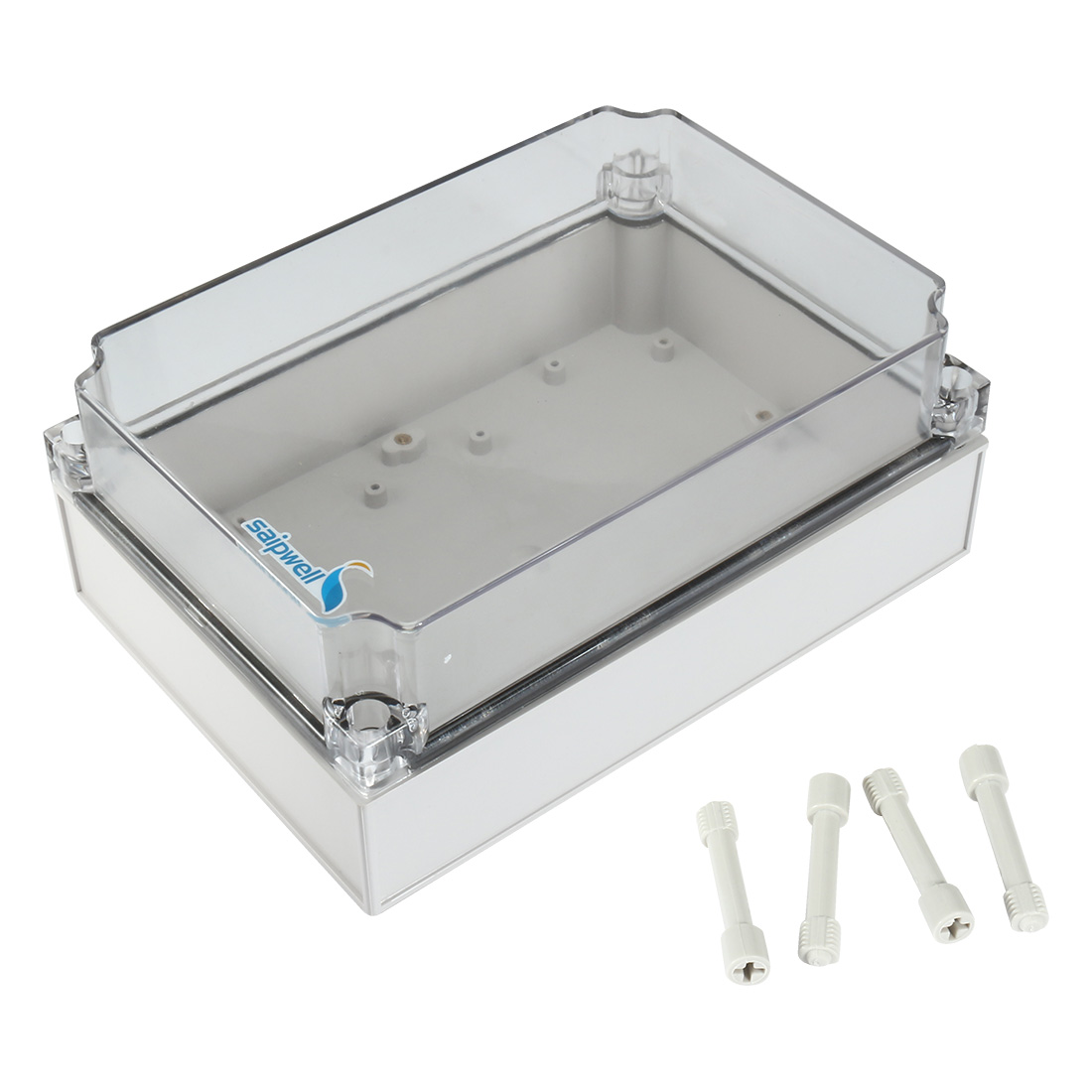 "6.9""x9.8""x3.9""(175mmx250mmx100mm) ABS Junction Box Universal Project Enclosure w PC Transparent Cover"