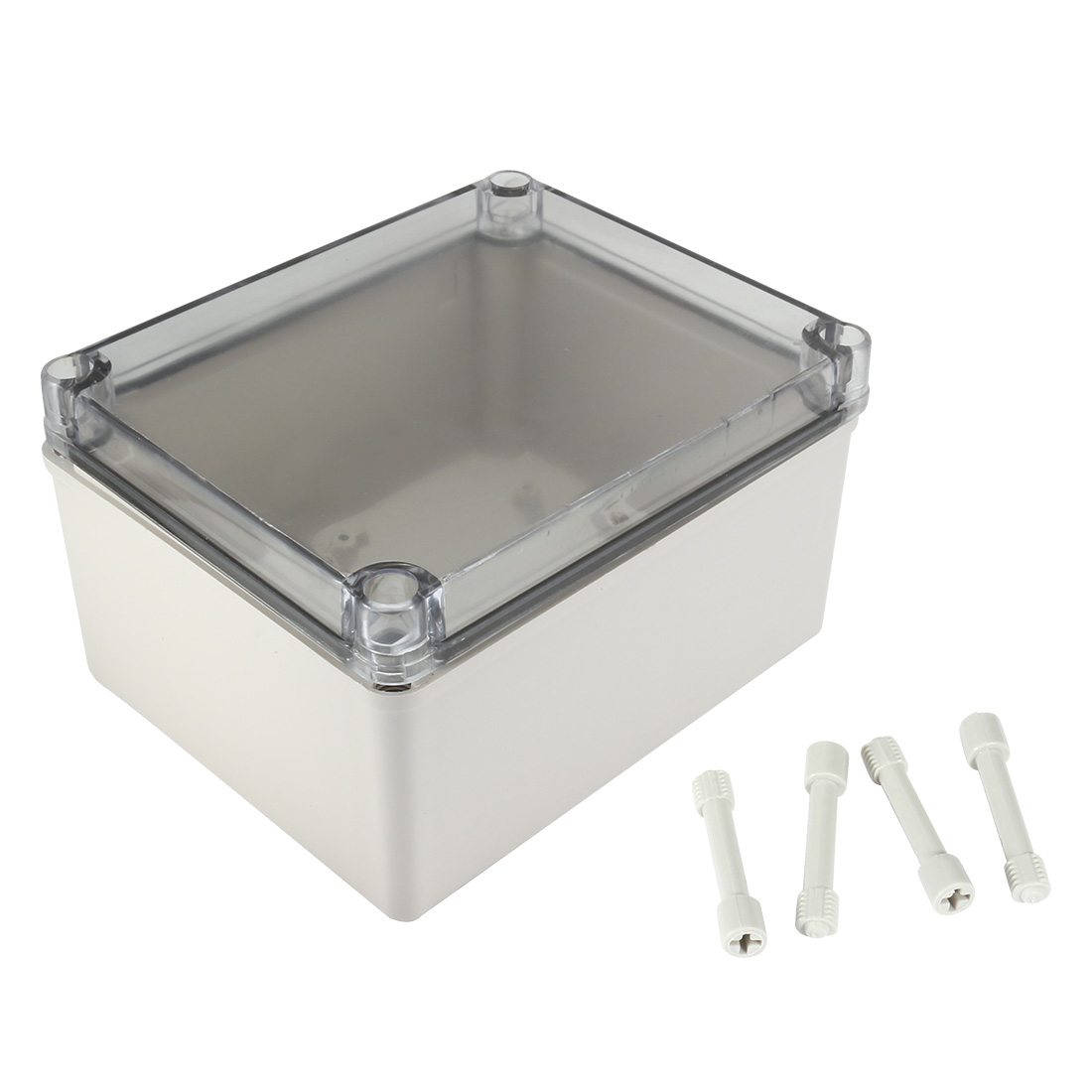 "5.5""x6.7""x3.7""(140mmx170mmx95mm)ABS Junction Box Universal Project Enclosure w PC Transparent Cover"