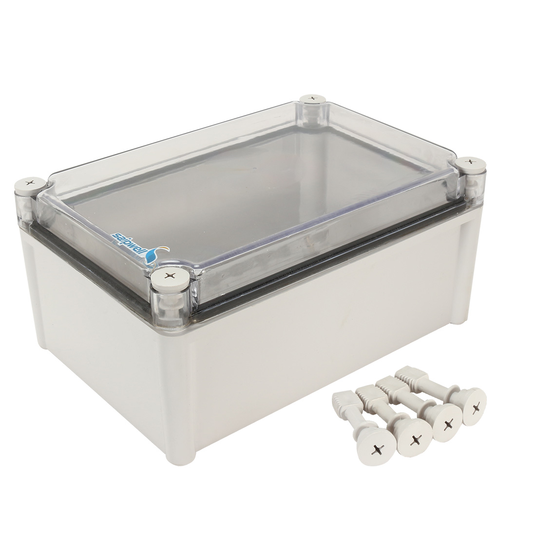 "11""x7.5""x5.1""(280mmx190mmx130mm) ABS Junction Box Universal Project Enclosure w PC Transparent Cover"