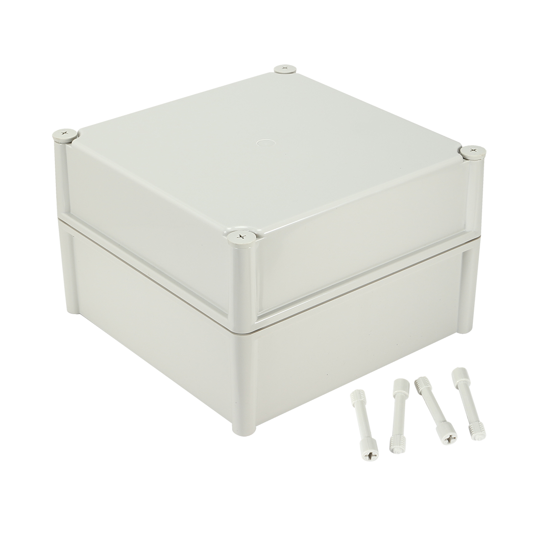 "11""x11""x7.09""(280mmx280mmx180mm) ABS Dustproof IP65 Junction Box Universal Electric Project Enclosure"