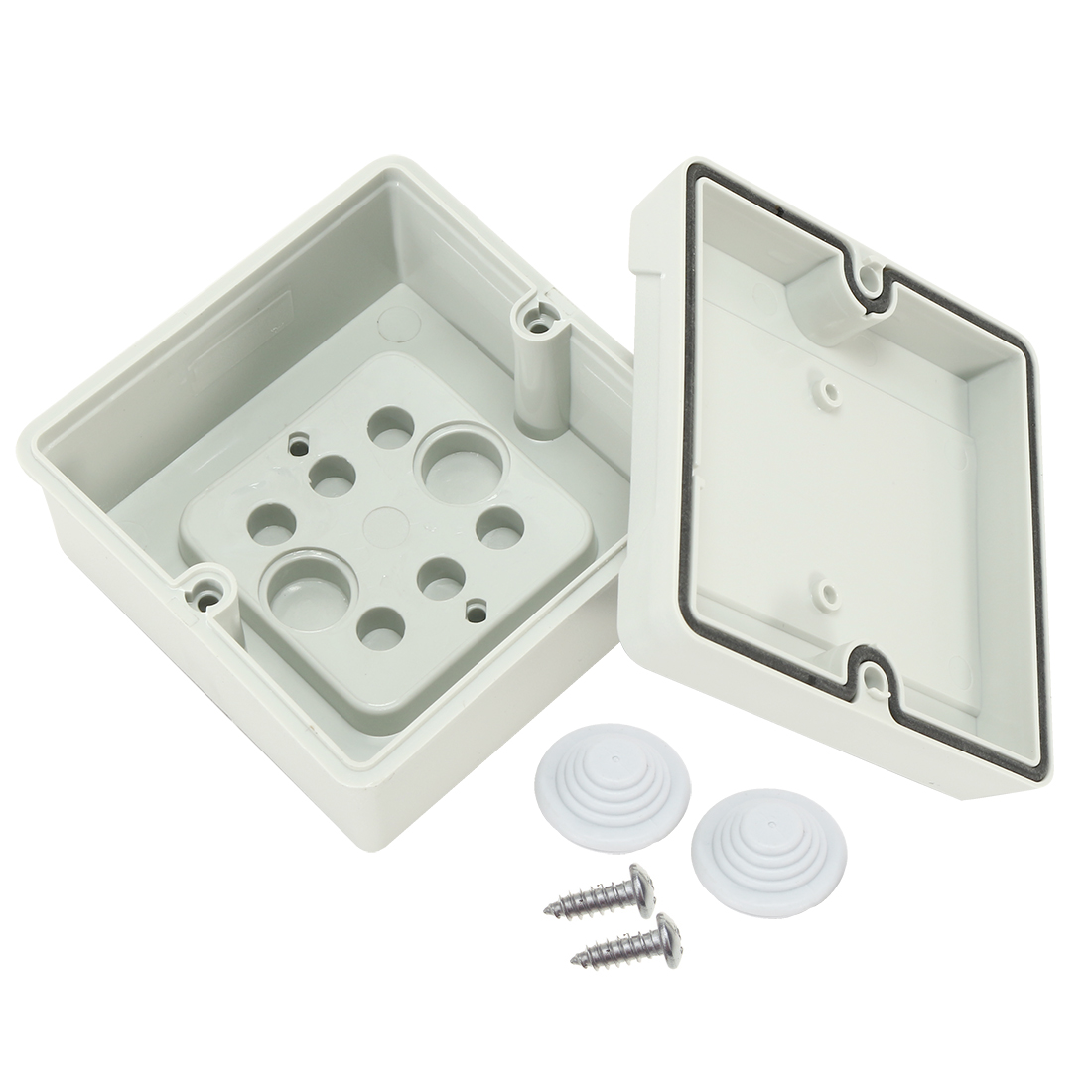"3.5""x3.5""x2.1""(88mmx88mmx53mm) ABS Flame Retardant Dustproof IP66 Junction Box Universal Project Enclosure"