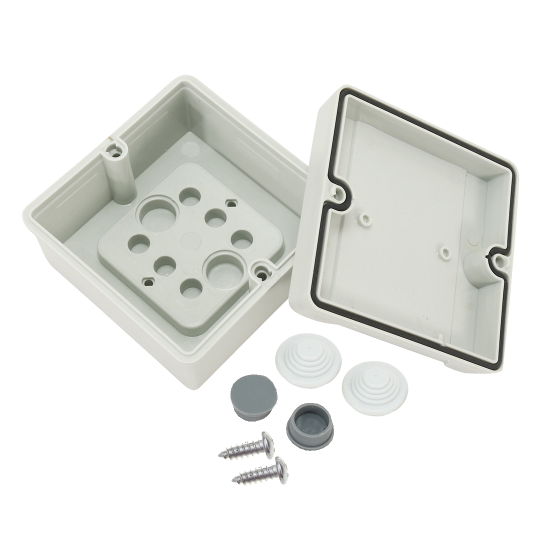 "3.9""x3.9""x2.4""(98mmx98mmx61mm) ABS Flame Retardant Dustproof IP66 Junction Box Universal Project Enclosure"