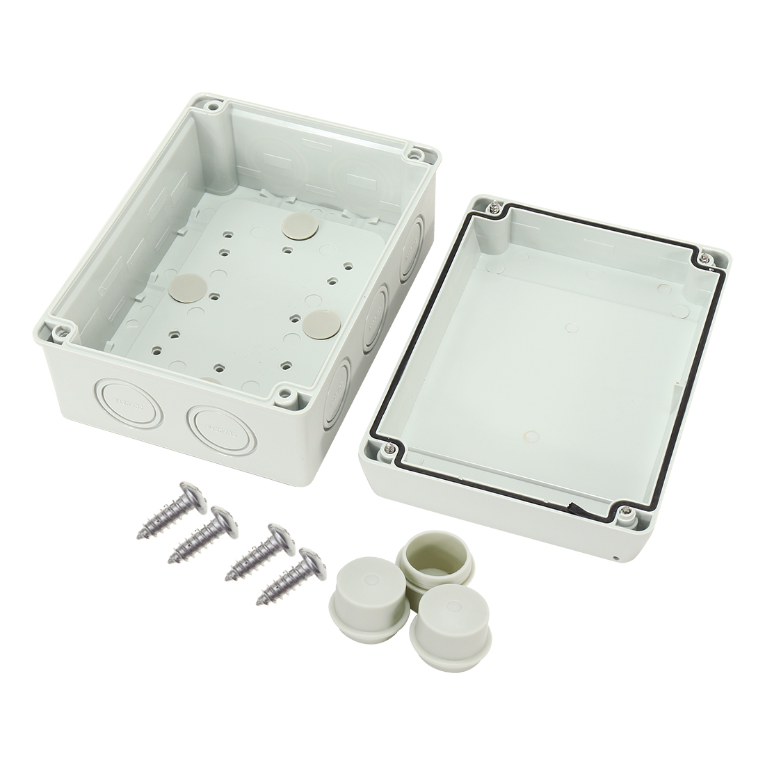 "6.6""x4.9""x3.2""(167mmx125mmx82mm) ABS Flame Retardant IP65 Junction Box Universal Project Enclosure"