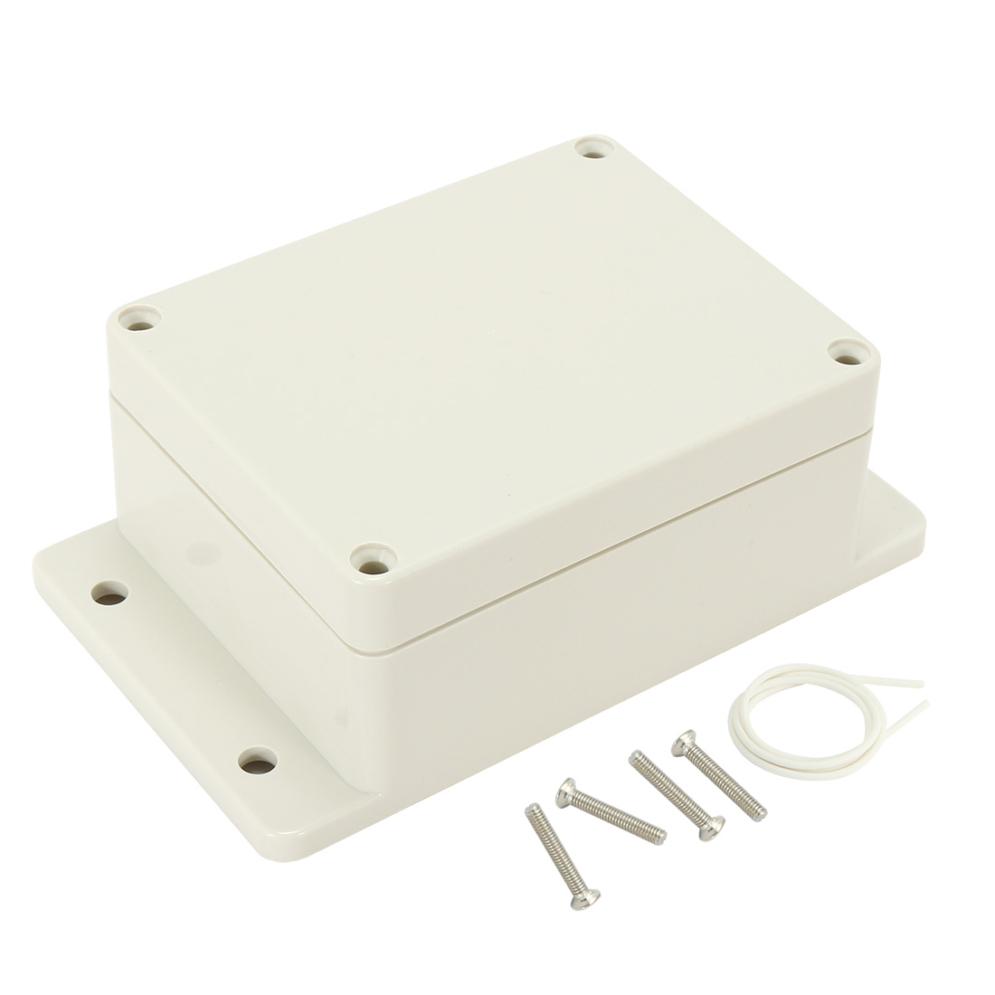 "4.53""x3.54""x2.2""(115mmx90mmx55mm) ABS Junction Box Universal Electric Project Enclosure w Fixed Ear"