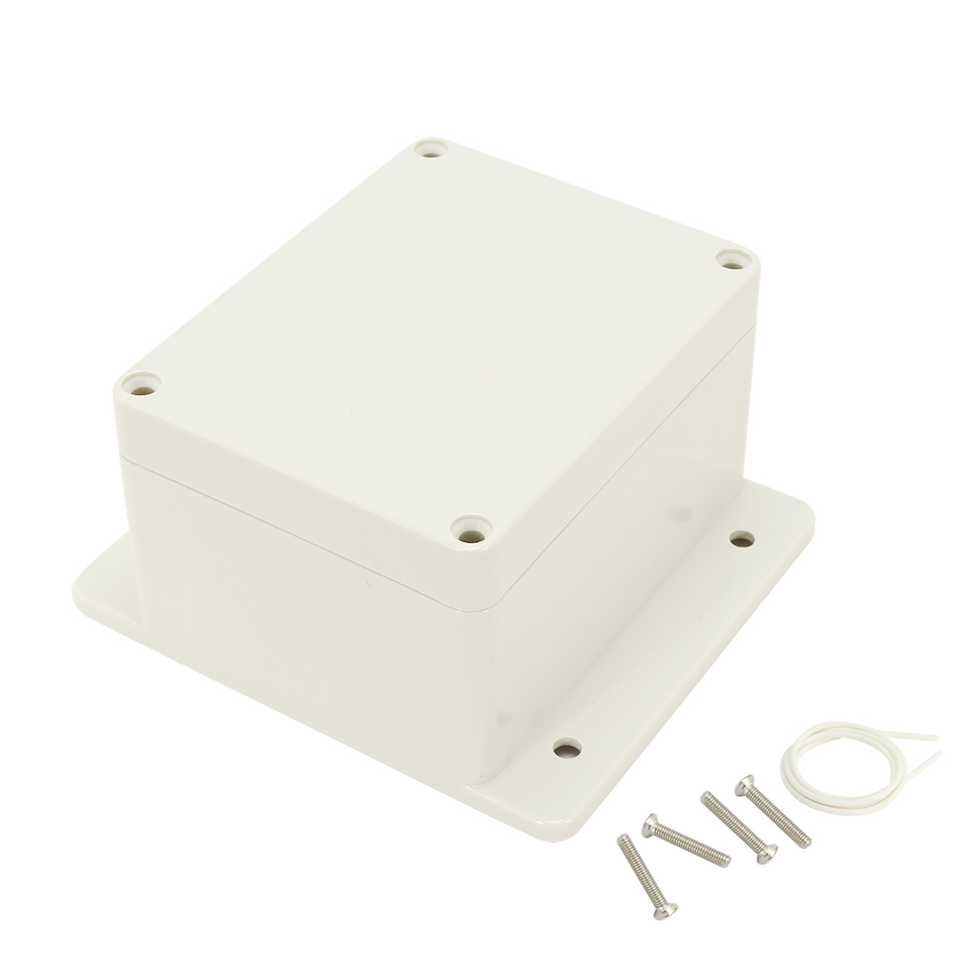 "4.53""x3.54""x2.76""(115mmx90mmx70mm) ABS Junction Box Universal Electric Project Enclosure w Fixed Ear"