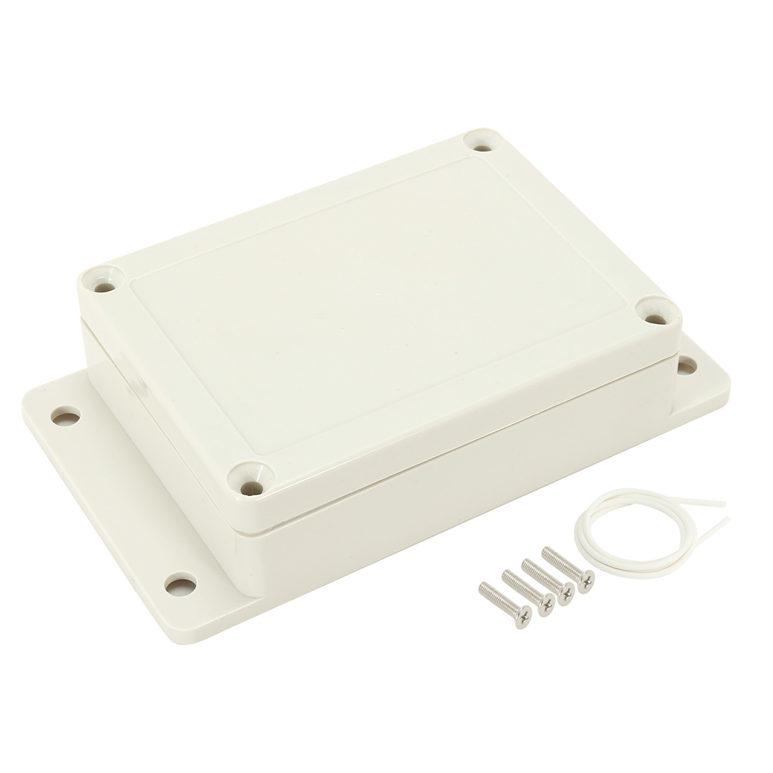 "4.53""x3.35""x1.37""ABS Junction Box Universal Enclosure w Fixed Ear"