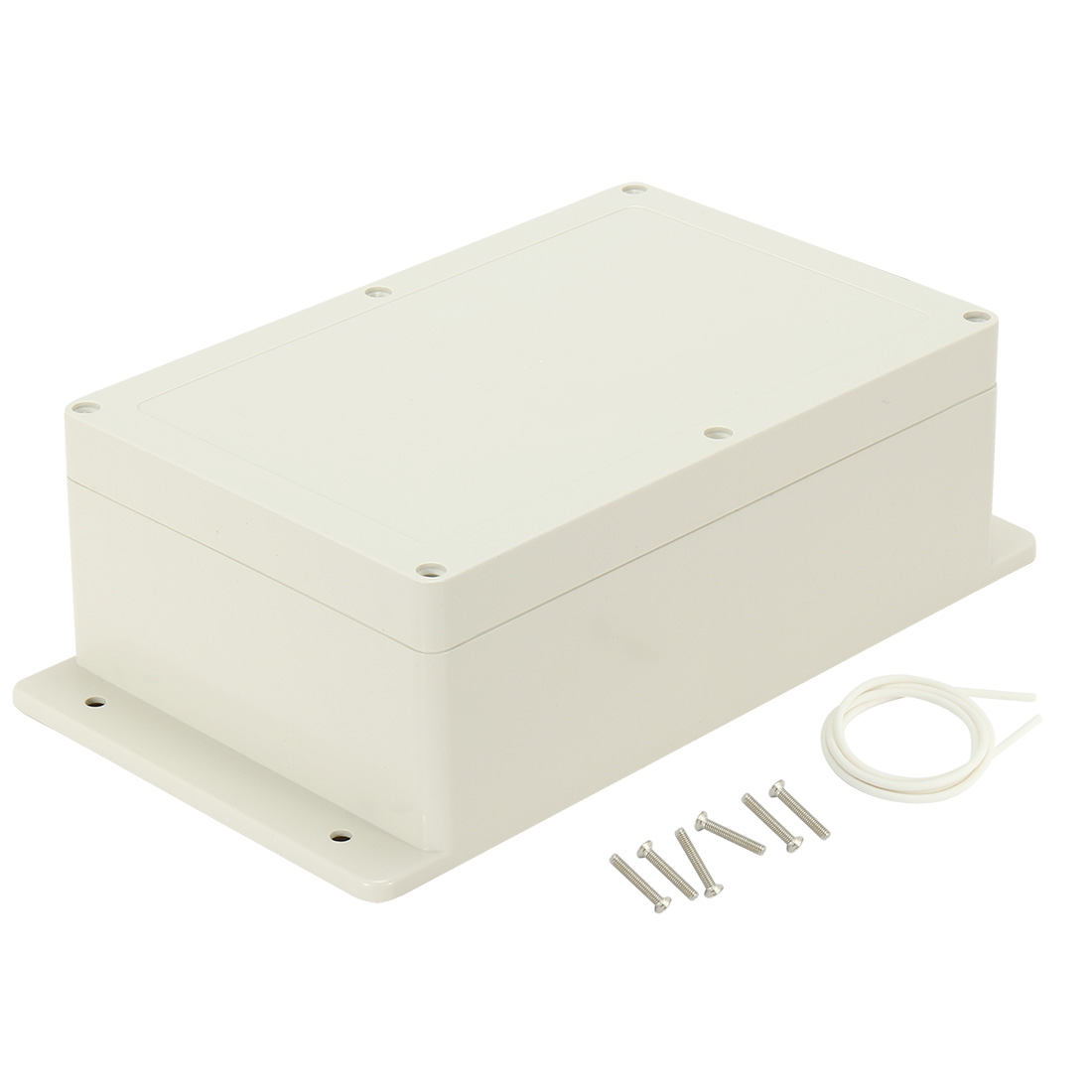 "9.06""x5.9""x3.43""(230mmx150mmx87mm) ABS Junction Box Universal Electric Project Enclosure w Fixed Ear"