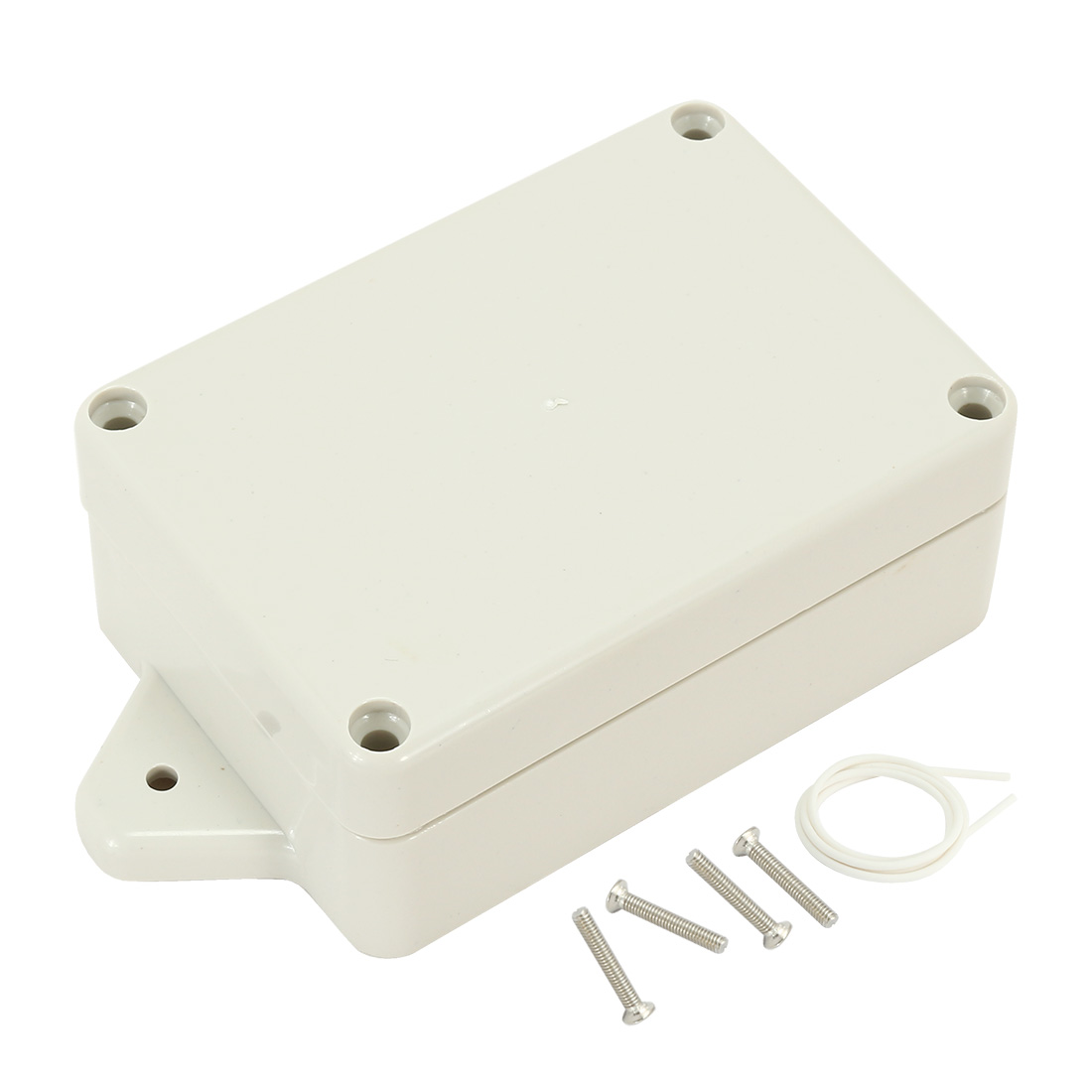 "3.27""x2.28""x1.3""(83mmx58mmx33mm) ABS Junction Box Universal Electric Project Enclosure w Fixed Ear"