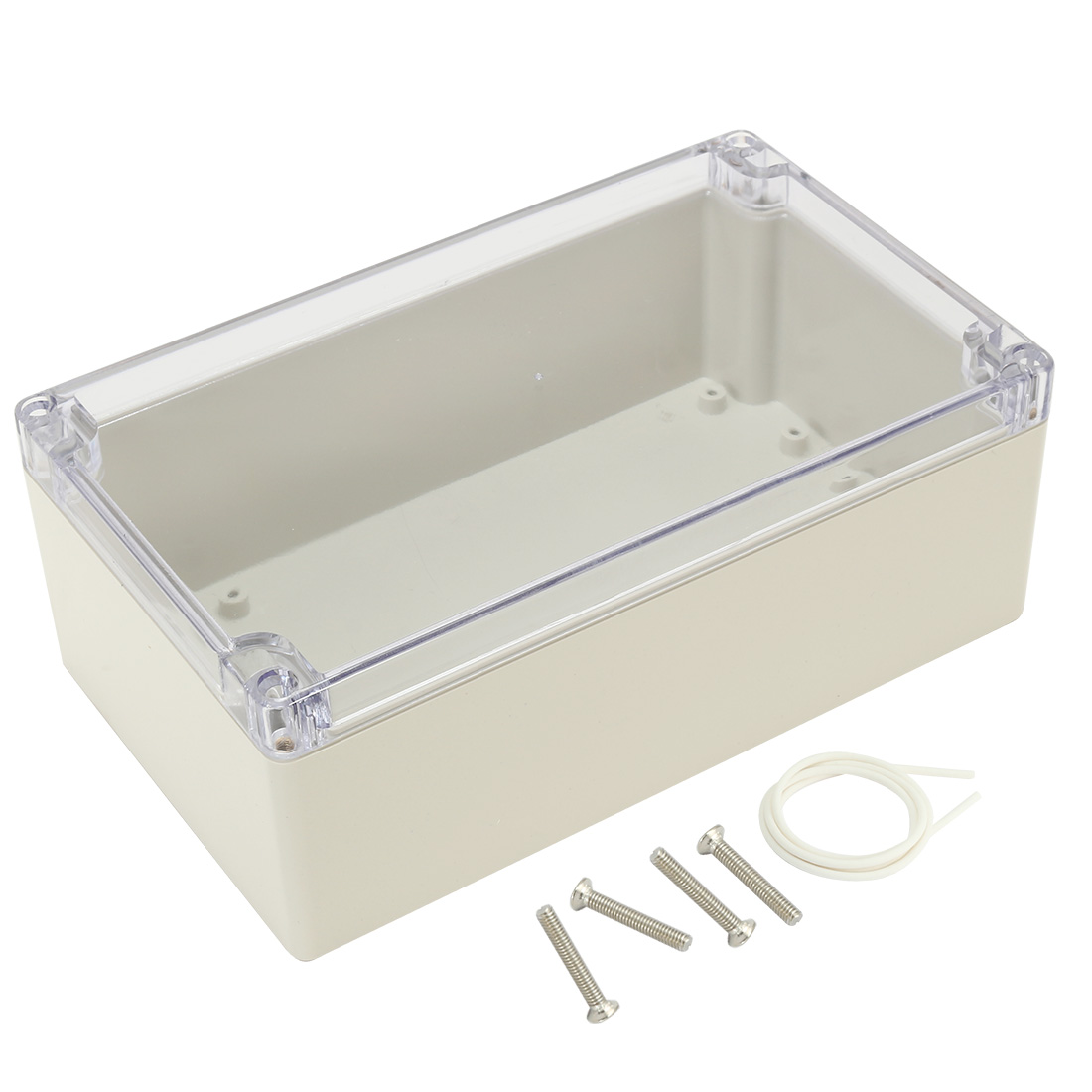"""7.9""""x4.7""""x2.9""""(200mmx120mmx75mm) ABS Junction Box Universal Project Enclosure w PC Transparent Cover"""