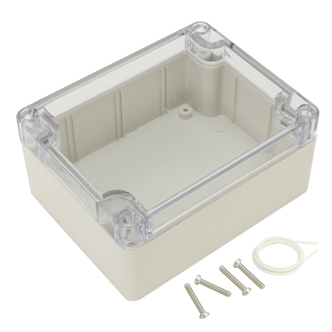 "4.53""x3.54""x2.16""(115mmx90mmx55mm) ABS Junction Box Electric Project Enclosure Clear"