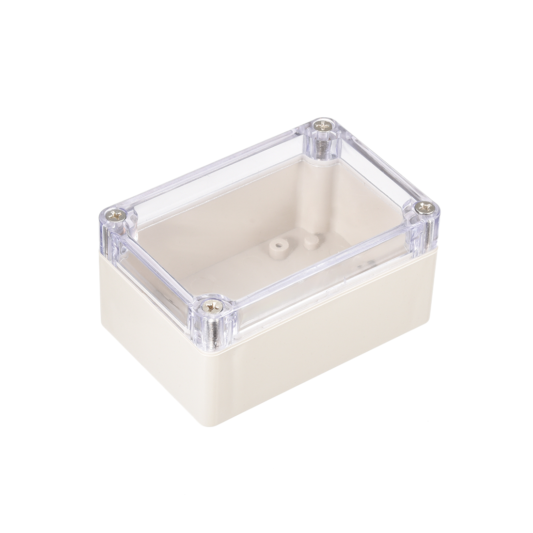 """3.9""""x2.7""""x2""""(100mm x 68mm x 50mm) ABS Junction Box Universal Project Enclosure w PC Transparent Cover"""