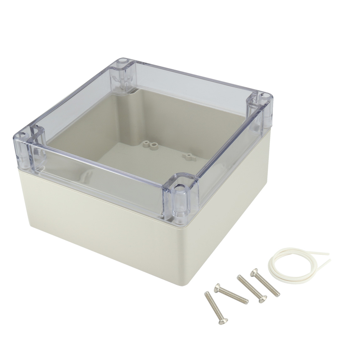 "6.3""x6.3""x3.54""(160mm x 160mm x 90mm) ABS Junction Box Universal Project Enclosure w PC Transparent Cover"