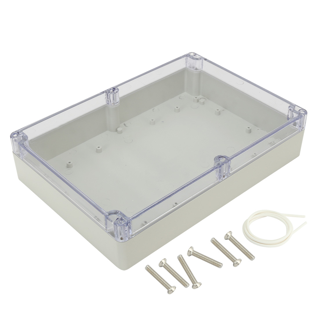 "10.4""x7.2""x2.4"" ABS Junction Box Electric Project Enclosure Clear"